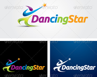 Dancing Star Logo Template
